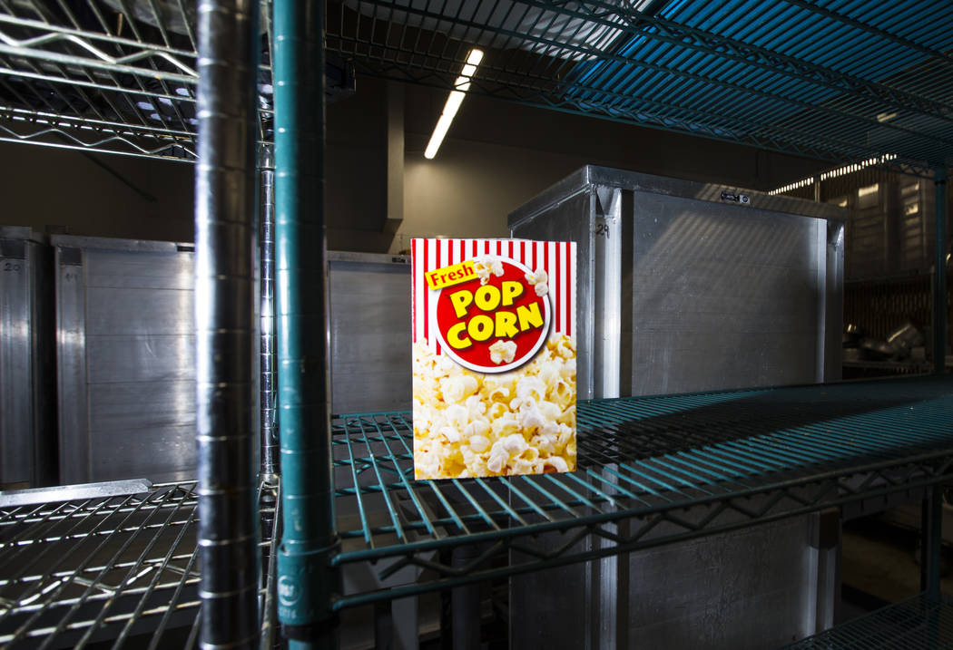 Popcorn in the kitchen at Cashman Field ahead of the team's move to Summerlin in Las Vegas on Wednesday, Aug. 29, 2018. Chase Stevens Las Vegas Review-Journal @csstevensphoto