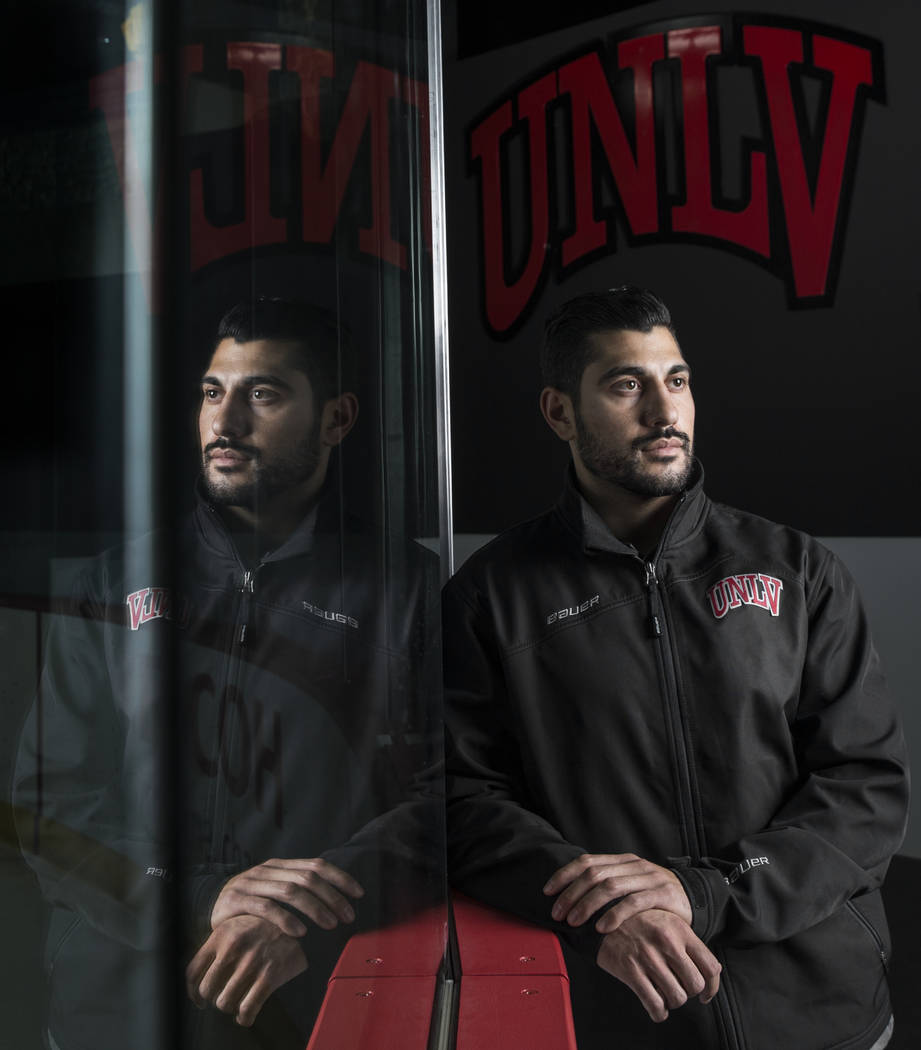 UNLV assistant hockey coach Nick Robone was shot in the chest at the Route 91 Harvest Festival. Photo taken on Monday, Aug. 27, 2018, at City National Arena, in Las Vegas. Benjamin Hager Las Vegas ...