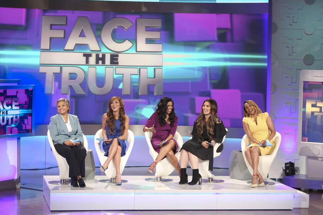 "From left, Mary Chrzanowski, Dr. Judy Ho, Areva Martin, Rosie Mercado and Vivica A. Fox star in ""Face the Truth."" (Sonja Flemming/CBS)"