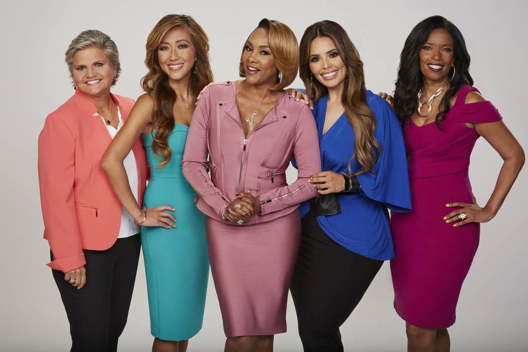 "From left, Mary Chrzanowski, Dr. Judy Ho, Vivica A. Fox, Rosie Mercado and Areva Martin host the daytime series ""Face the Truth."" (Sonja Flemming/CBS)"