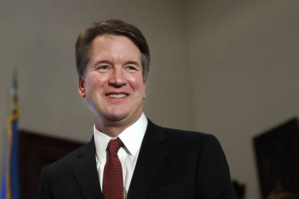 Supreme Court nominee Judge Brett Kavanaugh is seen on Capitol Hill in Washington in July 2018. (AP Photo/Jacquelyn Martin, File)