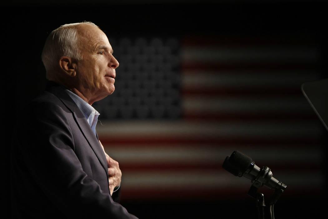 John McCain. (AP Photo/Gerald Herbert, File)