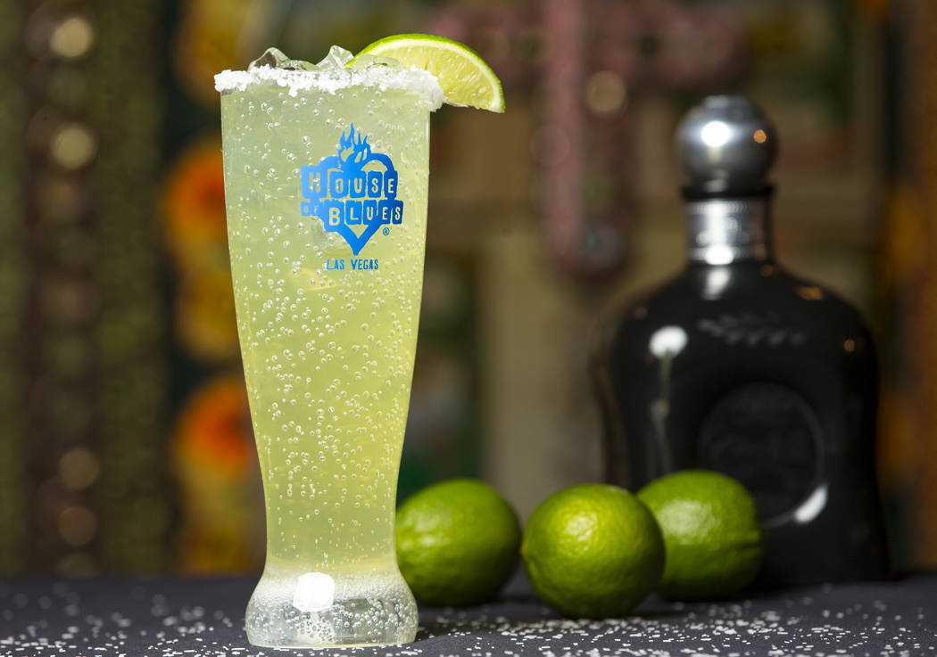Carlos Santana's signature Supernatural Margarita made with Casa Noble tequila served at the House of Blues at Mandalay Bay in Las Vegas on Friday, Aug. 24, 2018. Richard Brian Las Vegas Review-Jo ...