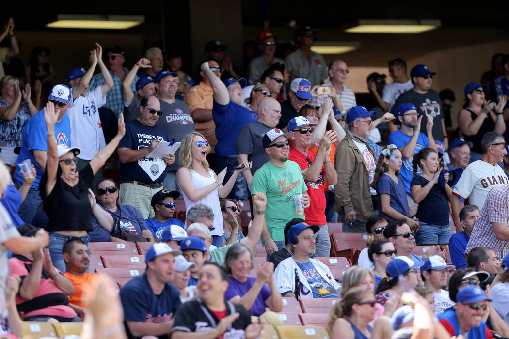Las Vegas 51s fans cheer during final game ever at Cashman Field in Las Vegas Monday, Sept. 3, 2018. The team will move to a new stadium in Summerlin next season. K.M. Cannon Las Vegas Review-Jour ...