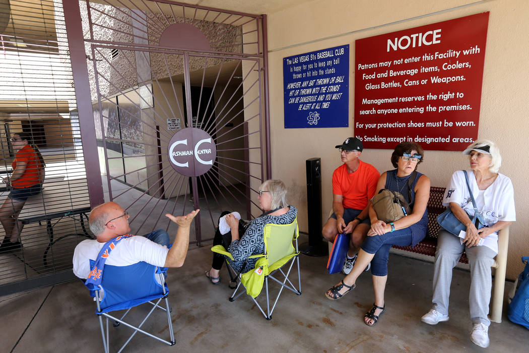 Fans wait for the stadium to open before Las Vegas 51s final game ever at Cashman Field in Las Vegas Monday, Sept. 3, 2018. The team will move to a new stadium in Summerlin next season. K.M. Canno ...