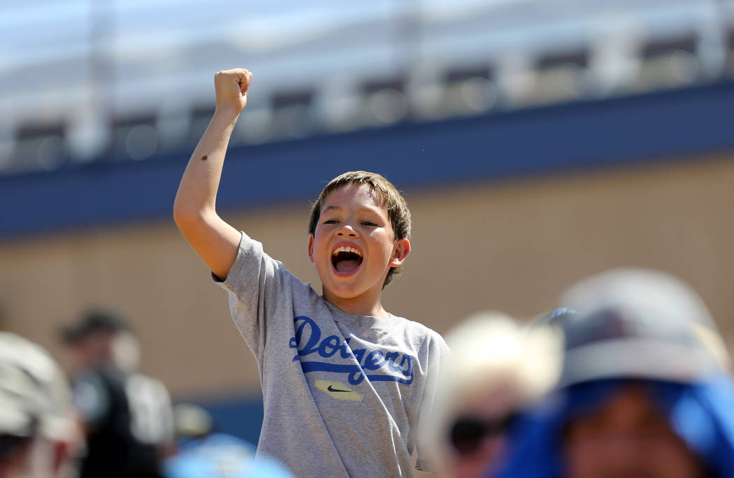 Shawn Adams, 11, during the Las Vegas 51s final game ever at Cashman Field in Las Vegas Monday, Sept. 3, 2018. The team will move to a new stadium in Summerlin next season. K.M. Cannon Las Vegas R ...