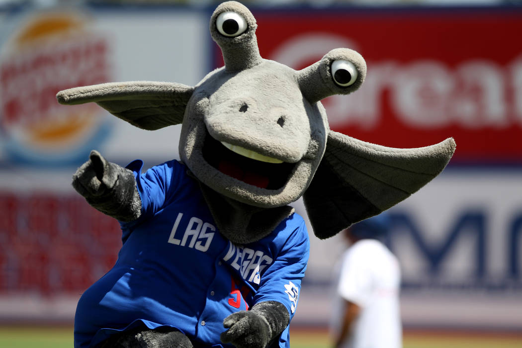 Cosmo during the Las Vegas 51s final game ever at Cashman Field in Las Vegas Monday, Sept. 3, 2018. The team will move to a new stadium in Summerlin next season. K.M. Cannon Las Vegas Review-Journ ...