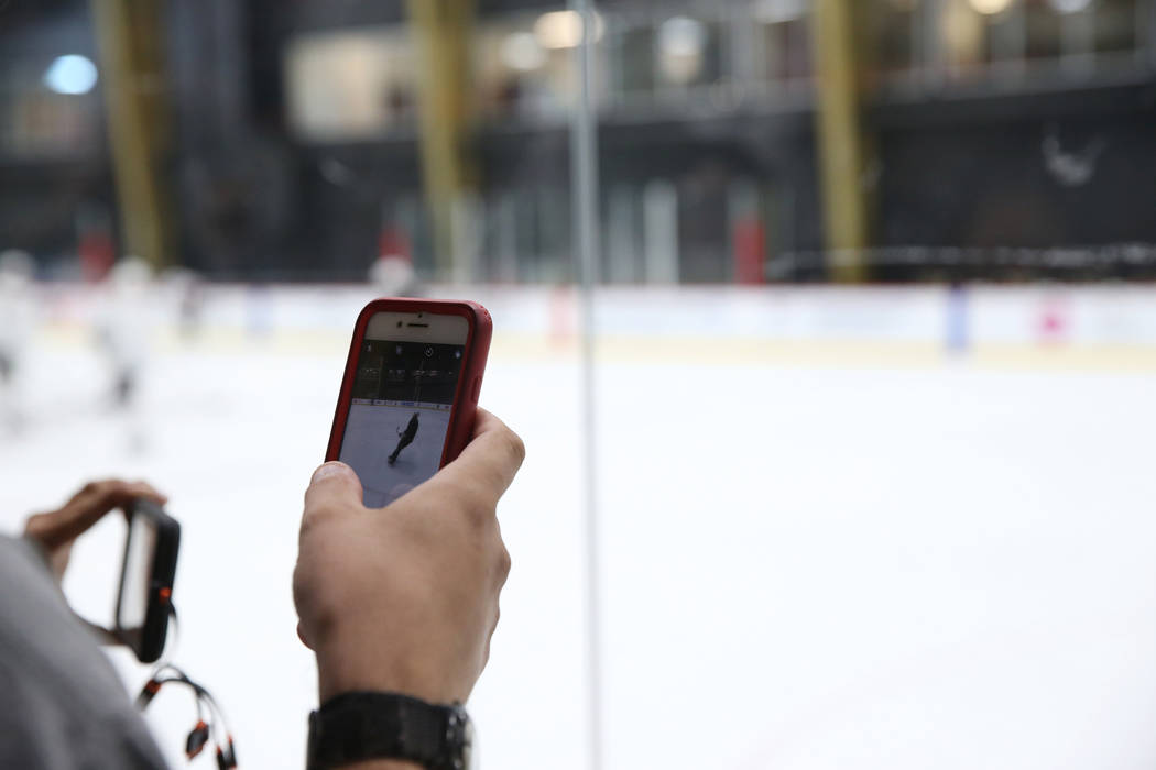 Fans watch the Vegas Golden Knights during a team practice at City National Arena in Las Vegas, Tuesday, Sept. 4, 2018. Erik Verduzco Las Vegas Review-Journal @Erik_Verduzco
