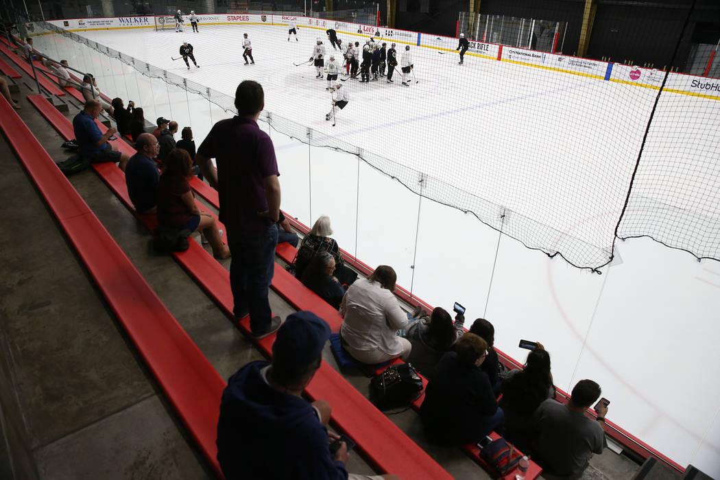 The Vegas Golden Knights practice at City National Arena in Las Vegas, Tuesday, Sept. 4, 2018. Erik Verduzco Las Vegas Review-Journal @Erik_Verduzco