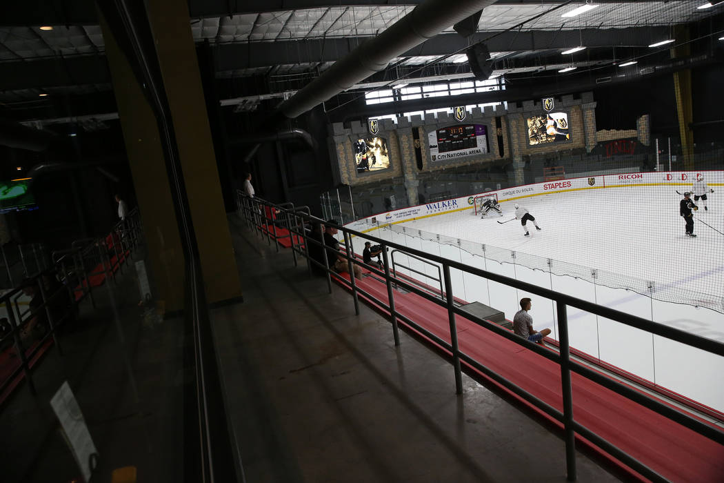 The Vegas Golden Knights practice at City National Arena in Las Vegas, Tuesday, Sept. 4, 2018. Erik Verduzco Las Vegas Review-Journal @Erik_Verduzco
