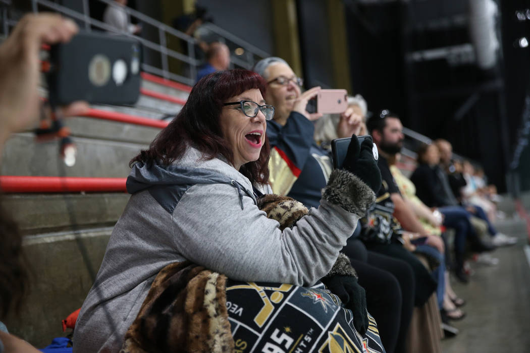 Kat Craner watches the Vegas Golden Knights during a team practice at City National Arena in Las Vegas, Tuesday, Sept. 4, 2018. Erik Verduzco Las Vegas Review-Journal @Erik_Verduzco