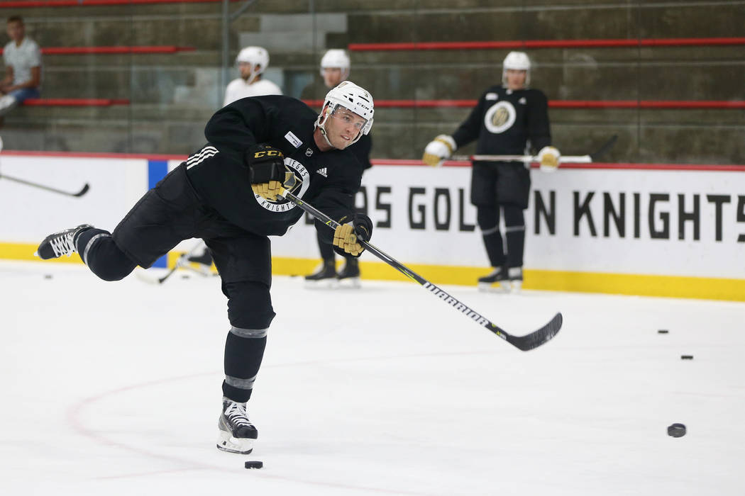 Vegas Golden Knights defenseman Brayden McNabb (3) during a team practice at City National Arena in Las Vegas, Tuesday, Sept. 4, 2018. Erik Verduzco Las Vegas Review-Journal @Erik_Verduzco
