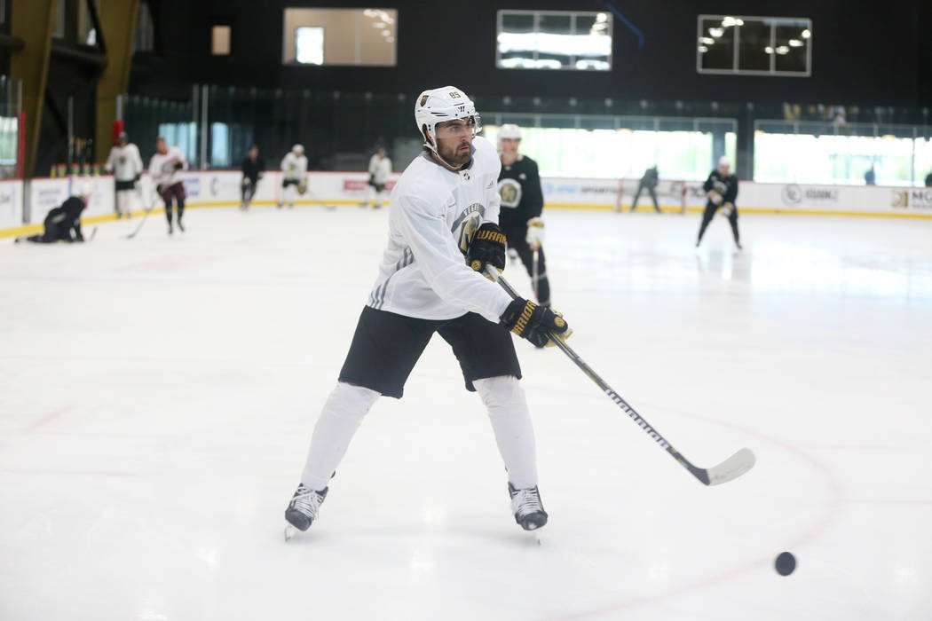 Vegas Golden Knights right wing Alex Tuch (89) during a team practice at City National Arena in Las Vegas, Tuesday, Sept. 4, 2018. Erik Verduzco Las Vegas Review-Journal @Erik_Verduzco
