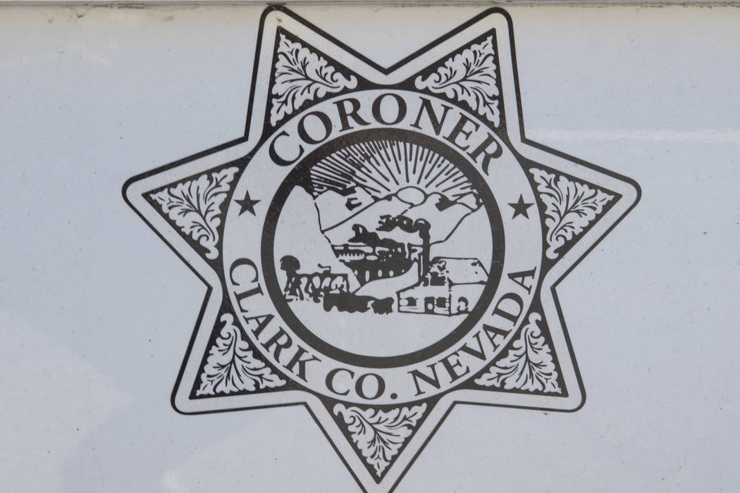 A Clark County Coroner and Medical Examiner vehicle parked at their headquarters located at 1704 Pinto Lane in Las Vegas on Tuesday, May 23, 2017. Richard Brian Las Vegas Review-Journal @vegasphot ...