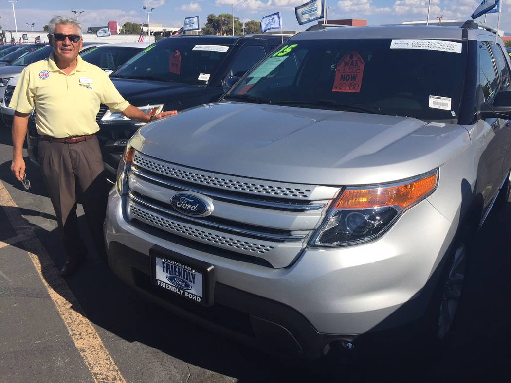 Friendly Ford sales consultant Hugo Gonzalez is a big believer in the Ford certified pre-owned warranty program at the dealership at 660 N. Decatur Blvd. (Friendly Ford)