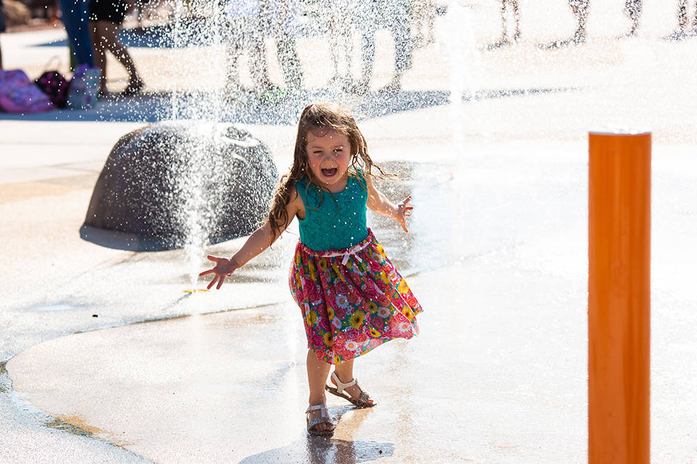 Olympia Sports Park in Southern Highlands features a splash pad. (Southern Highlands)