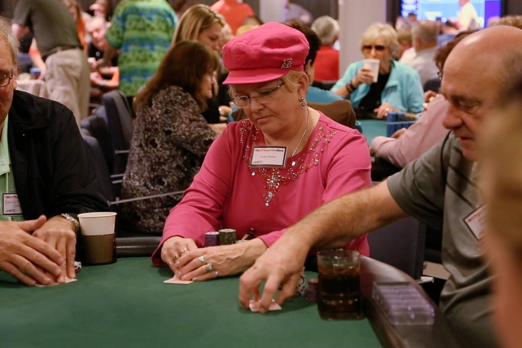 """Susie Isaacs appears in a scene from the poker documentary """"Cracking Aces: A Woman's Place at the Table."""""""