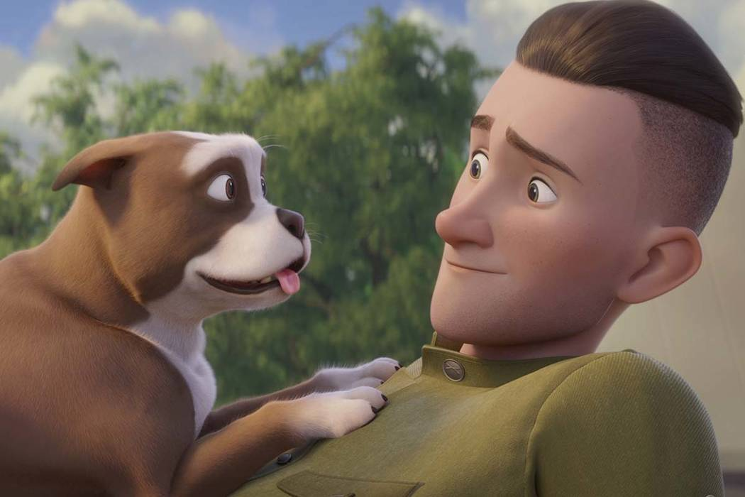 """This image released by Fun Academy Motion Pictures Media Group shows a scene from the animated movie """"Sgt. Stubby: An American Hero."""" The film depicts the famous war dog and the soldier ..."""