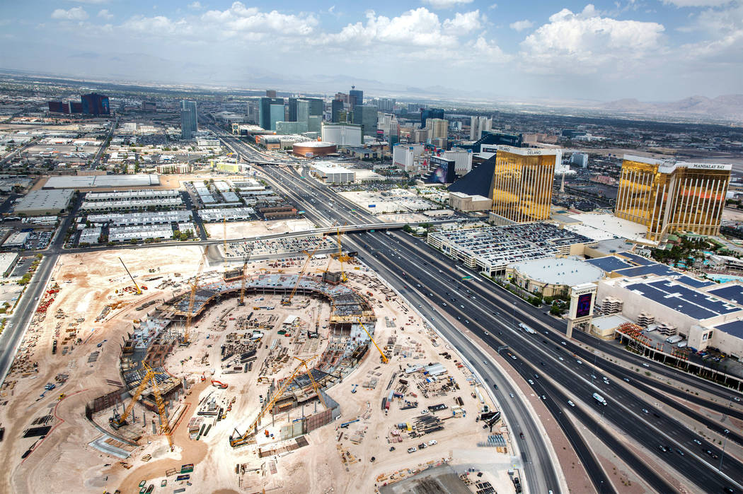 The site of the future Raiders stadium on Wednesday, Aug. 22, 2018, in Las Vegas. Benjamin Hager Las Vegas Review-Journal @benjaminhphoto