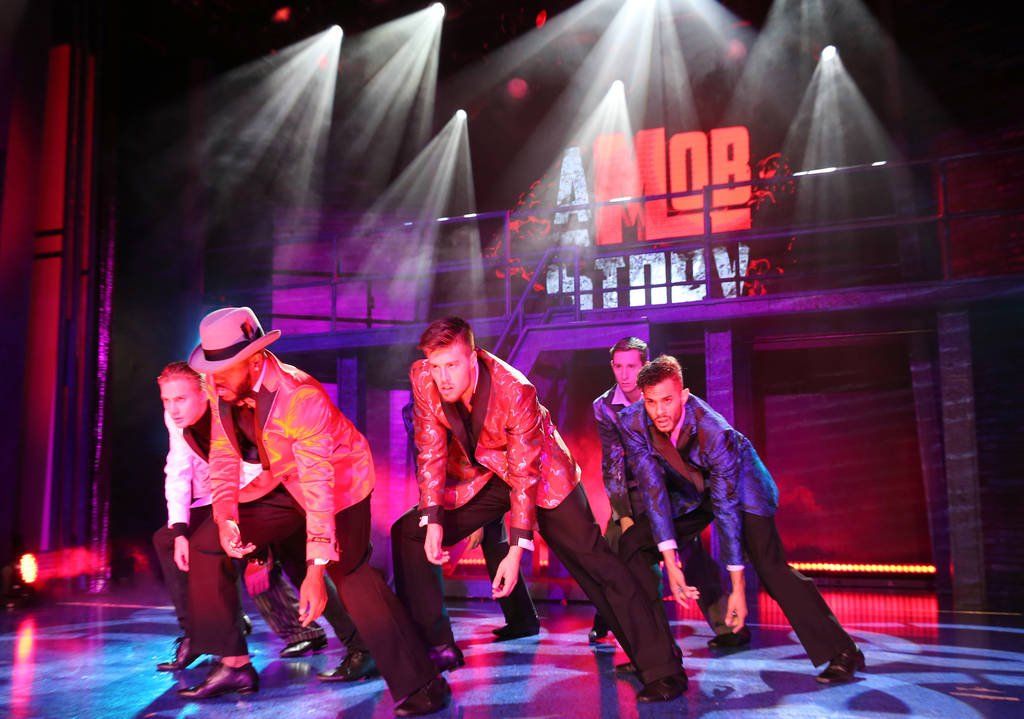 """A Mob Story"" at the at Plaza Showroom in Las Vegas Thursday, Sept. 13, 2018. K.M. Cannon Las Vegas Review-Journal @KMCannonPhoto"