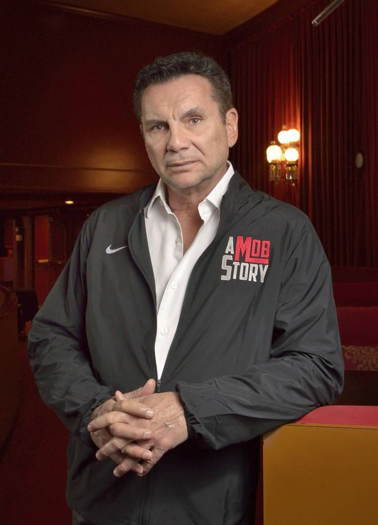 "Michael Franzese, a reformed ex-mobster with the Columbo crime family, is shown in the Plaza Showroom on Friday, May 4, 2018, where he is scheduled to debut his new show, ""A Mob Story,&#x20 ..."