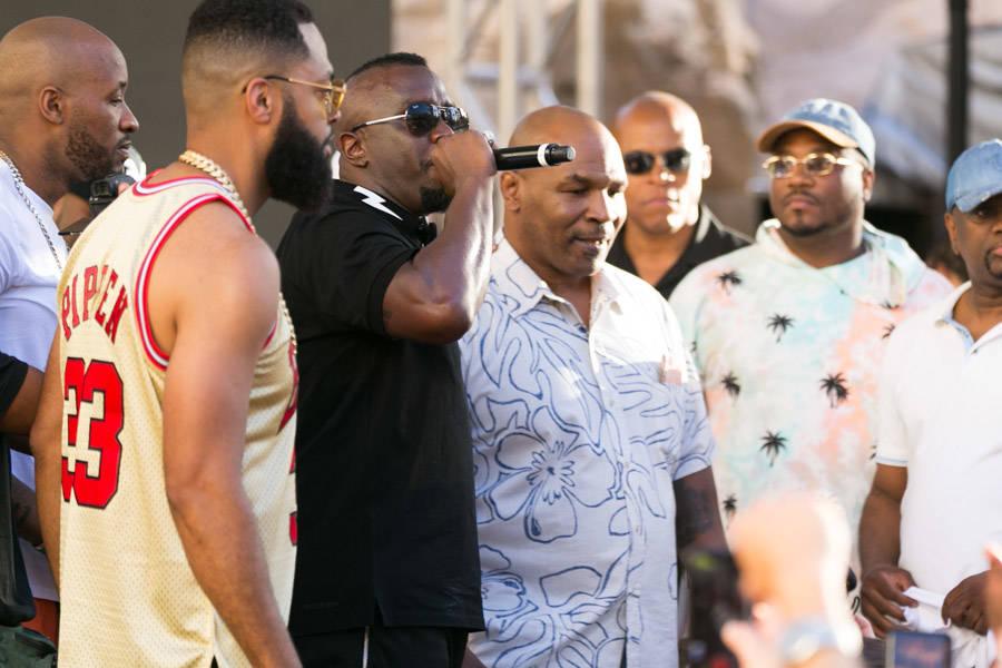 Diddy, Mike Tyson host a splashy bash at Rehab Beach Club   Las