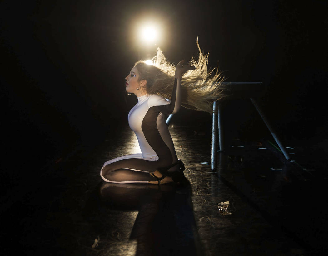 Russian contortionist Anna Vladi performs during the International Congress of Contortionists on Wednesday, Sept. 5, 2018, at Sunset Station, in Las Vegas. Benjamin Hager Las Vegas Review-Journal ...