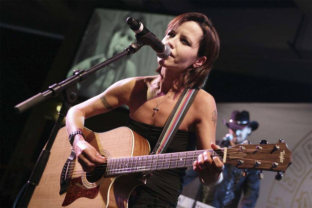 In this Sunday, Jan. 27, 2008 file photo, Cranberries lead singer Dolores O'Riordan performs during the European Border Breakers awards, or EBBA awards, in Cannes, southern France. (Bruno Bebert/ ...