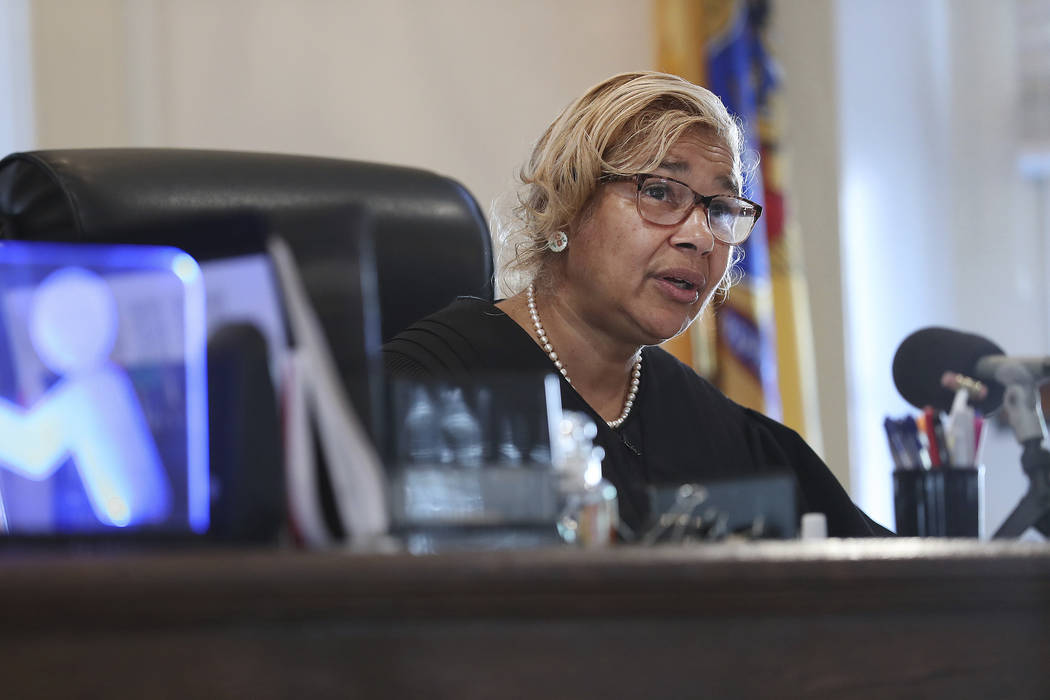 Judge Paula T. Dow addresses the lawyers during a hearing on missing funds in the Johnny Bobbitt case in the Olde Historic Courthouse in Mt. Holly, NJ Wednesday, Sept. 5, 2018. McClure and D'Amico ...