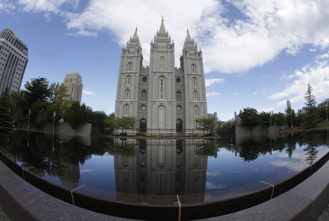 The Salt Lake Temple at Temple Square in Salt Lake City on Friday, July 10, 2015. (AP Photo/Rick Bowmer)