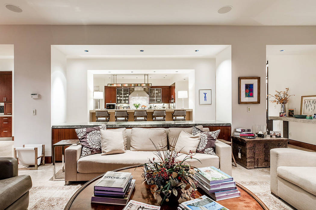 The great room is adjacent to the kitchen. (Ivan Sher Group)