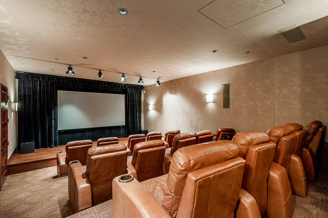 The theater seats 15 and has its own separate exterior entrance. (Ivan Sher Group)