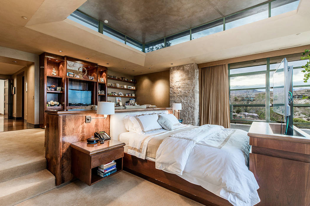 The master bedroom has a pop-up TV. (Ivan Sher Group)