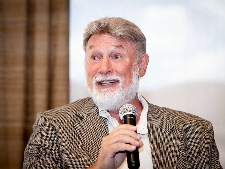 Las Vegas developer Rich MacDonald talks at a Sept. 5 National Association of Real Estate Brokers event held at DragonRidge Country Club in Henderson. (Tonya Harvey RJRealEstate.Vegas)
