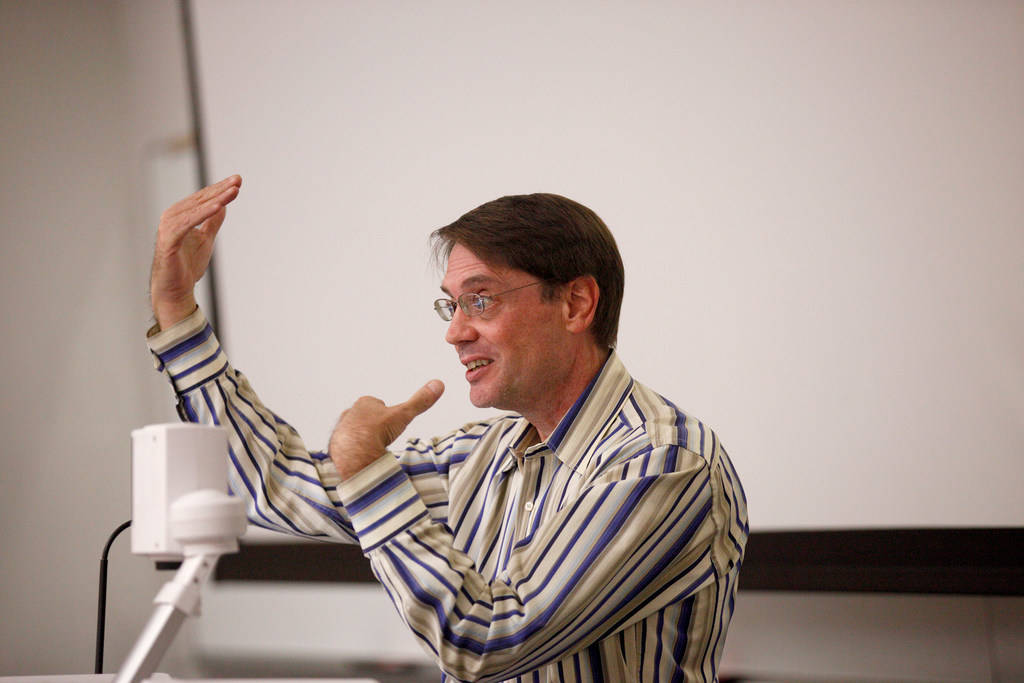 Assistant Professor-in-Residen­ce Todd White leads an anthropology class that covers witchcraft, magic, and religion at UNLV in Las Vegas, Tuesday, Sept. 18, 2018. (Rachel Aston/Las Vegas Review- ...
