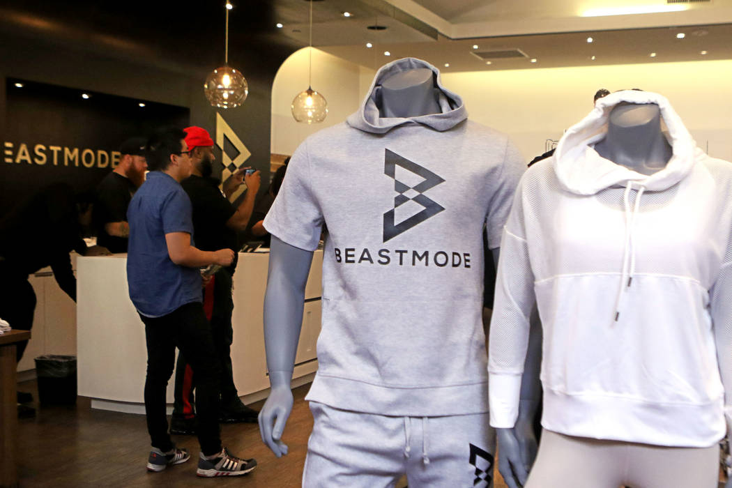 Fans and media attend the grand opening of Oakland Raiders running back Marshawn Lynch's store Beastmode in Town Square Las Vegas in Las Vegas, Saturday, Sept. 1, 2018. Heidi Fang Las Vegas Review ...
