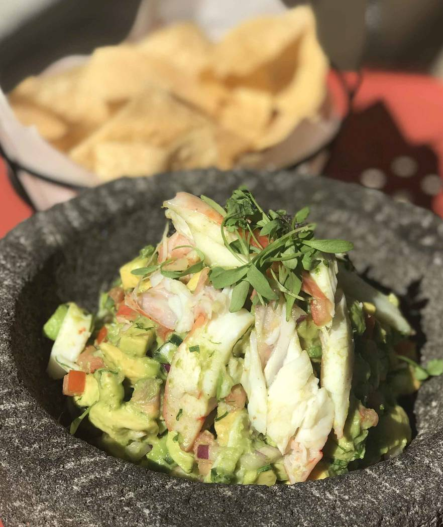 Ark Restaurants King crab guacamole at Gonzalez y Gonzalez