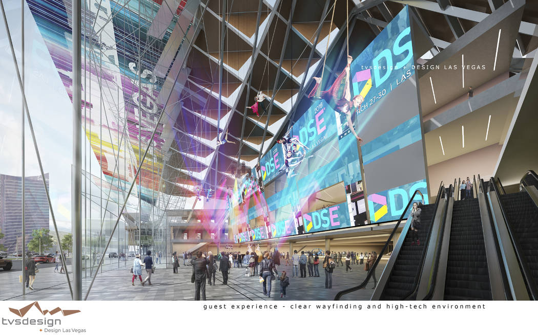A conceptual rendering of the Las Vegas Convention Center District Phase Two Expansion by TVS Design / Design Las Vegas. Courtesy of TVS Design / Design Las Vegas