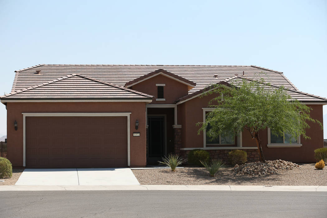 Las Vegas gunman Stephen Paddock's house in Mesquite is shown on Aug. 7, 2018. Paddock's assets, including the Mesquite home, have been valued at more than $1.3 million. Erik Verduzco Las Vegas Re ...