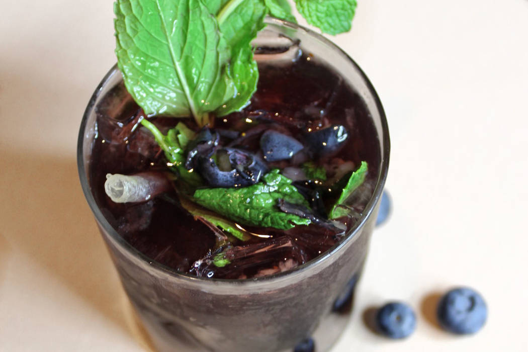 Blueberry Shine Mint Julep South Point