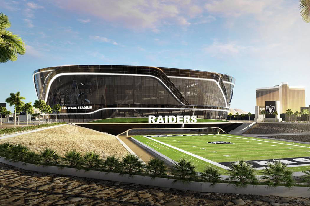 A rendering of the Las Vegas Raiders stadium project. (MANICA Architecture)