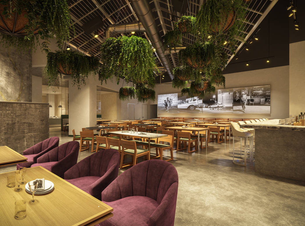 A rendering of the interior of Roy Choi's Bestfriend restaurant on the Las Vegas Strip. (MGM Resorts International)