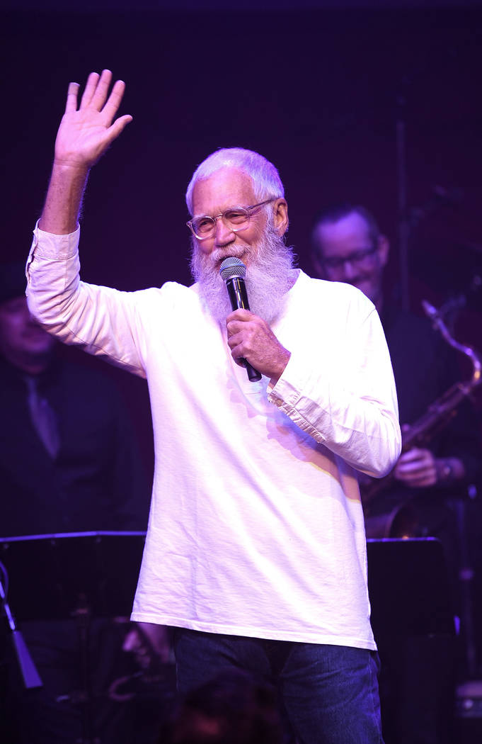 David Letterman performs at Cleopatra's Barge at Caesars Palace on September 6, 2018 in Las Vegas. (Photo by Denise Truscello/WireImage)