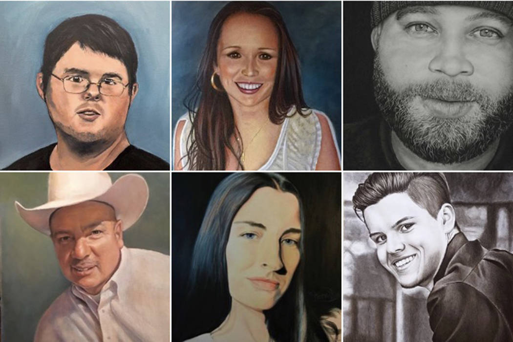 Exhibit to feature artists' portraits of Las Vegas shooting victims