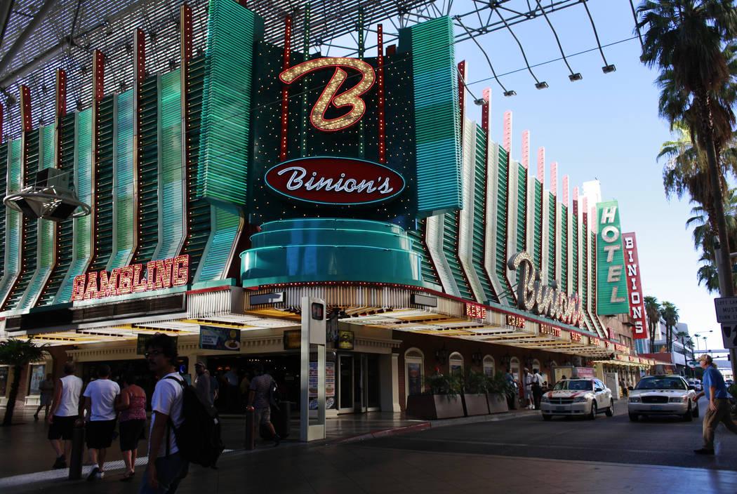 Binion's hotel-casino in 2011. (File Photo)
