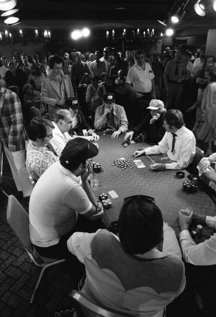 The no limit Hold 'Em tournament event in the World Series of Poker in 1982. (File Photo)