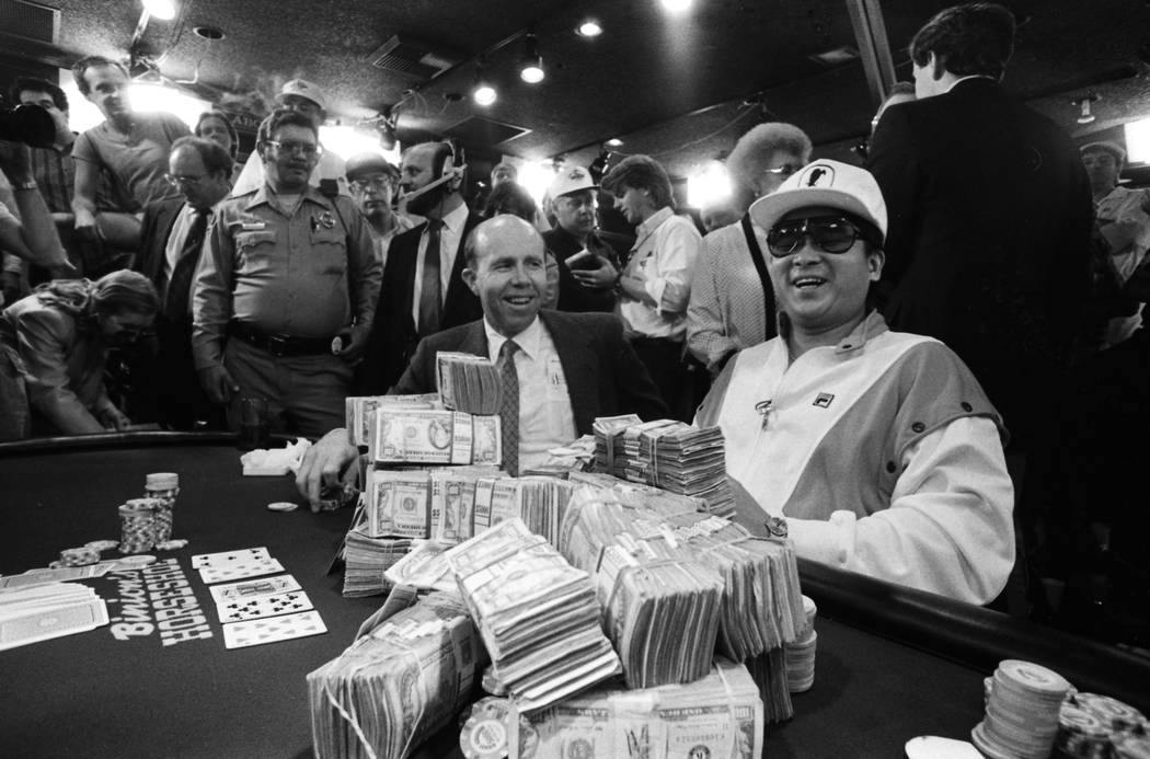 "Johnny ""Oriental Express"" Chan of Houston won first prize in the $10,000 no-limit Texas Hold 'Em event in 1987. (File Photo)"