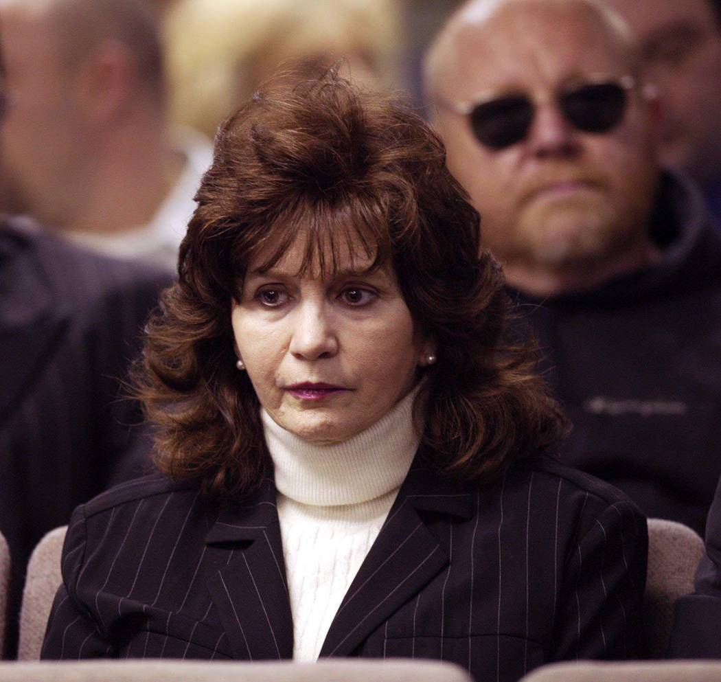 Becky Binion Behnen, Ted Binion's sister, glances over to Rick Tabish while the verdict was read on Tuesday, Nov. 23, 2004. In their second trial, Tabish and Sandy Murphy were found not guilty of ...