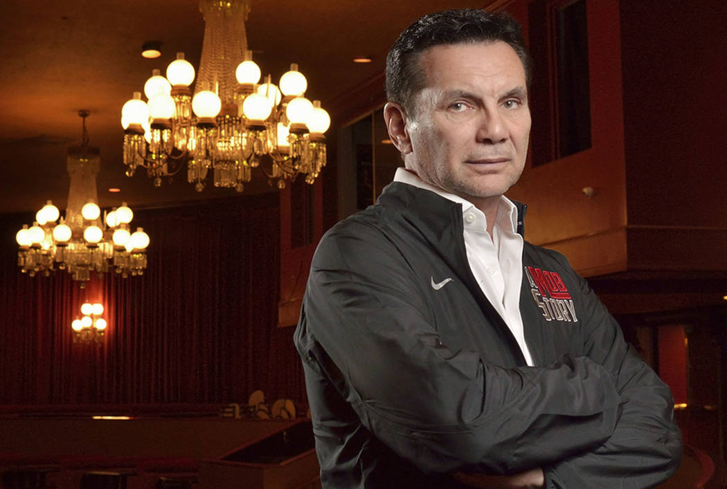 """Michael Franzese, a reformed ex-mobster with the Columbo crime family, is shown in the Plaza Showroom on Friday, May 4, 2018, where he is scheduled to debut his new show, """"A Mob Story,"""" at the ..."""