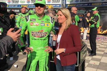 kyle busch takes nbc for las vegas homecoming ride